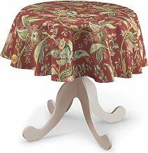Runde Tischdecke, rot, Ø 135 cm, Gardenia