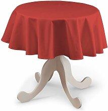 Runde Tischdecke, rot, Ø 135 cm, Loneta