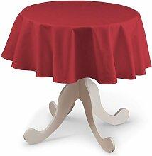 Runde Tischdecke, rot, Ø 135 cm, Quadro