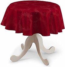 Runde Tischdecke, rot , Ø 135 cm, Damasco