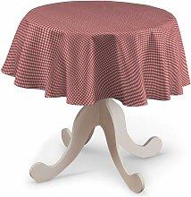 Runde Tischdecke, rot-ecru , Ø 135 cm, Quadro