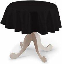 Runde Tischdecke, schwarz, Ø 135 cm, Cotton Panama