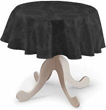 Runde Tischdecke, schwarz, Ø 135 cm, Damasco
