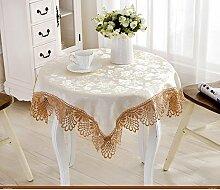 Runde tischdecke/square dining tisch tuch/tee tischdecke/haushalt tücher-B 130x130cm(51x51inch)