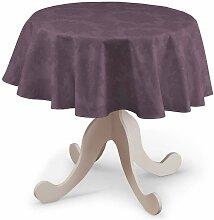 Runde Tischdecke, violett , Ø 135 cm, Damasco