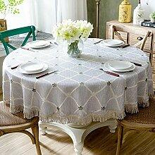 Runde Tischdecke Wasserdichte Baumwolltücher