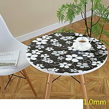 Runde tischdecke/wasserdichte und nicht waschbar tisch matte/plastiktisch mat-B 60cm(24inch)