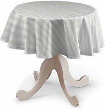 Runde Tischdecke, weiß, Ø 135 cm, Leinen