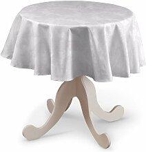 Runde Tischdecke, weiß , Ø 135 cm, Damasco