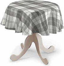 Runde Tischdecke, weiß-grau , Ø 135 cm, Edinburgh