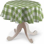 Runde Tischdecke, weiss-grün kariert, Ø 135 cm,
