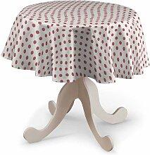 Runde Tischdecke, weiss- rosa, Ø 135 cm, Ashley