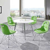Runde Tischgruppe in Grün und Weiß modern