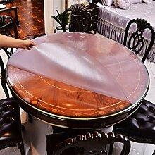 Runde Tischtisch Tuch wasserdicht und Öl frei waschen PVC weiches Glas Tisch Matte Pad Pad Crystal Plate Hotel Tischdecke Couchtisch Matte , 2 , diameter 130cm
