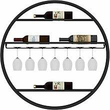 Runde Wanddekoration Haushalt Weinflaschen Halter