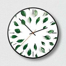 Runde Wanduhr, Kreative grüne Pflanze, Beliebte