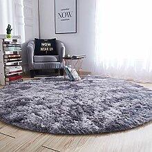 Runde Weich Hochflor Teppich Flauschig Teppich