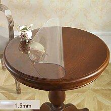 Runde weiche PVC-wasserfeste transparente Tischdecke , 1.5mm , diameter 100cm