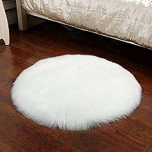 Runde Weichen Flauschigen Teppich Faux Schaffell