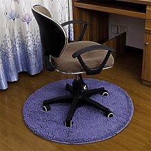 Runde Wolldecke Studio Mats Couchtisch Schlafzimmer Nachttisch Bad Teppich runder Hocker Drehstuhl Stuhl Kissen Computer Stuhl Kissen rutschfest ( Farbe : #5 , größe : Diameter-80CM )