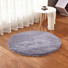 Runden Nicht verblassen Teppich Draht Flaum Wohnzimmer Teppich Bettmatten Kaffetisch Kissen Schlafzimmer Fußpolster , K , 160*160