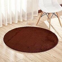 Runden Nicht verblassen Teppich Draht Flaum Wohnzimmer Teppich Bettmatten Kaffetisch Kissen Schlafzimmer Fußpolster , N , 160*160