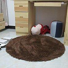 runden Teppich/Fitness Yoga Korb Sitzgelegenheiten Teppiche und Schlafzimmer Wohnzimmer und schönen Bett Teppich/[Schönes Wohnzimmer Schlafzimmer Bettvorleger]-B diameter120cm(47inch)