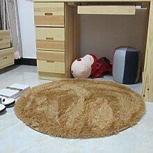 runden Teppich/Fitness Yoga Korb Sitzgelegenheiten Teppiche und Schlafzimmer Wohnzimmer und schönen Bett Teppich/[Schönes Wohnzimmer Schlafzimmer Bettvorleger]-F Durchmesser140cm(55inch)