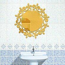 Runder 3D-Spiegel-Aufkleber mit Blumenmotiv, tolle