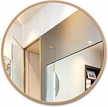 Runder Badezimmerspiegel, Badspiegel aus Holz,