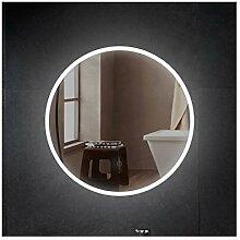 Runder Badspiegel LED Beleuchtung Leuchtspiegel Wandspiegel Ø60cm Hängespiegel