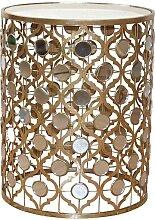 Runder Beistelltisch in Gold Italienischer Stil