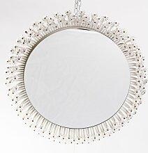 Runder Beleuchteter Mid-Century Spiegel von Emil