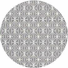 Runder dünner und Heller Teppich für