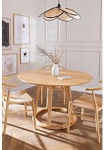 Runder Esstisch aus Holz (Ø 120 cm) Celest Braun