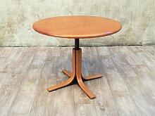 Runder Esstisch aus Holz & Metall, 1960er