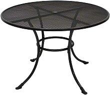Runder Gartentisch aus Metall Grau