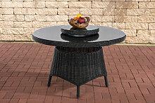 runder Gartentisch Jardin 120 cm-rund_schwarz