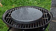 Runder Grillstein aus Granit für den Kugelgrill - 28cm Durchmesser 3cm stark