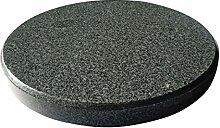 Runder Grillstein aus Granit für den Kugelgrill -