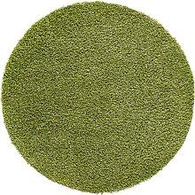 Runder Hochflorteppich Toronto, grün (Ø 160 cm)