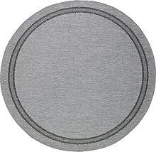 Runder In- und Outdoor Teppich Elba, grau (Ø 120 cm)