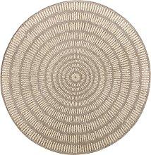 Runder In- und Outdoor Teppich Kathi, braun (Ø 100 cm)