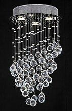 Runder Kristallleuchter, JJGD Moderne K9 Kristall