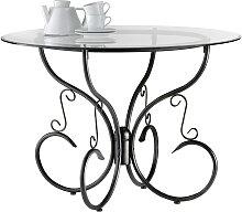 Runder Küchentisch / Esszimmertisch aus Glas und