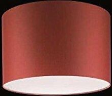 Runder Lampenschirm - rot - Ø45cm, Höhe 28cm -