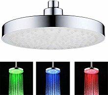 Runder LED-Duschkopf, Farbwechsel-Duschkopf für