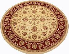 Runder Orientteppich Ziegler 300 cm Ø Beige feine Qualität moderner Teppich oriental round carpet best quality