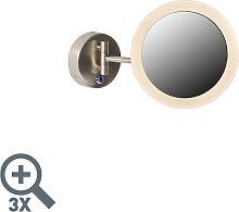 Runder Schminkspiegel Stahl inkl. LED IP44 - Barba