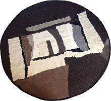 Runder schwarzweißer Teppich von Simona Tavassi